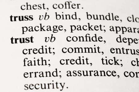 Selectieve focus op het woord uit het woordenboek Stockfoto
