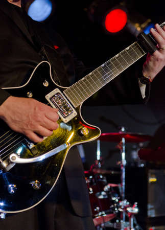 Musician playing the electric guitar at a blues festival Stock Photo - 18500584