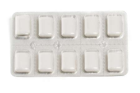 Pakket van nicotine kauwgom een gemeenschappelijke stoppen met roken hulp Stockfoto