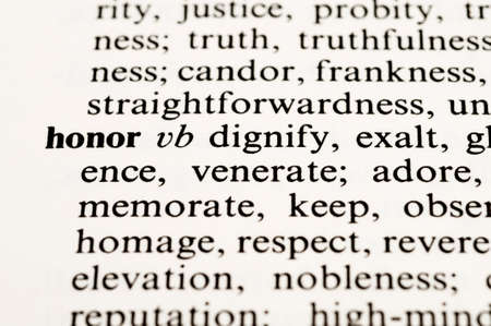 venerate: Dictionary word honor