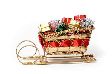 Santas sleigh full of gifts