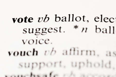 elective: The dictionary word vote