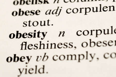 The dictionary word Obesity 版權商用圖片