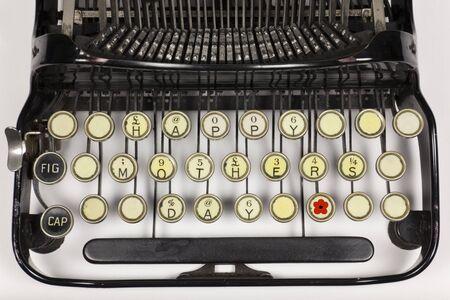 llave de sol: M�quina de escribir antigua reorganizan decir FELIZ DIA DE LAS MADRES
