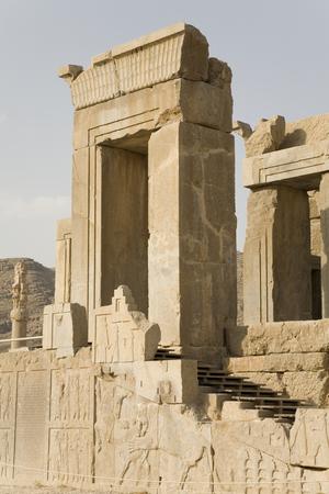 persia: Stone gateway at the ancient capital of Persia (Iran), Persepolis Stock Photo