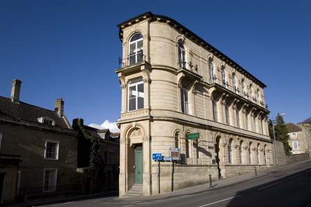 somerset: Unusual historic building now housing Frome museum, Somerset, England Editorial