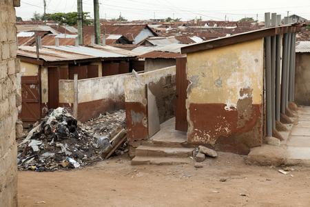 sanitation: Basic Sanitation - Toilet blocks at a shanty Town, Ghana