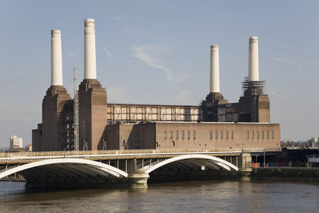 battersea: Battersea Power Station - Icon of London, now being converted Editorial