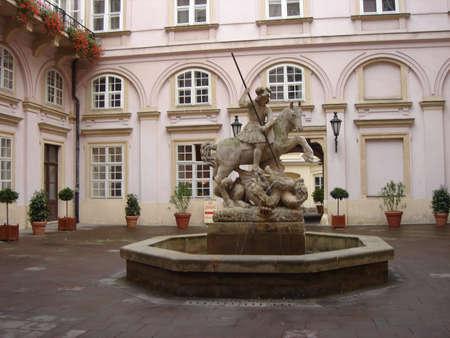 fountain in castle