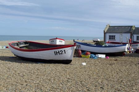suffolk: Boats on Aldeburgh Beach, Suffolk England