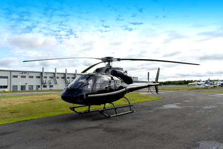 Helicopter on airfield