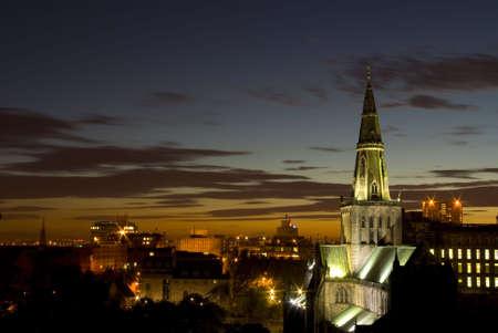 Catedral de Glasgow, Escocia, en la noche