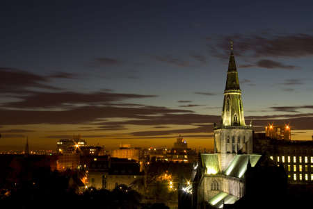 Glasgow Cathedral, Scotland, at night