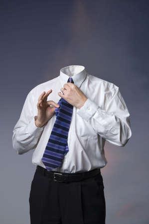 El hombre sin cabeza para los negocios - la cabeza eliminado