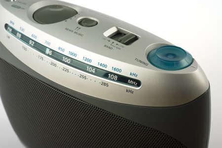 Moderno de radio isolated on white Foto de archivo