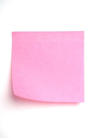 Rosa publicarlo nota aislado en blanco Foto de archivo