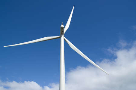 Wind turbine on a wind farm in Scotland, Europe. photo
