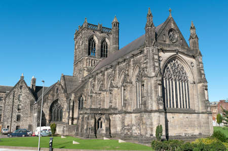 Paisley Abbey in Scotland. Believed to be where William Wallace (Braveheart) was educated 700 years ago.