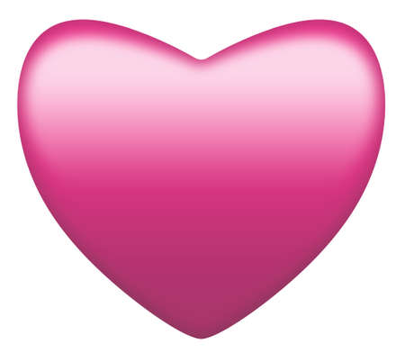 Pink heart isolated on white. Clipping path. Suitable for St Valentines Day, Mothers Day or romance. photo