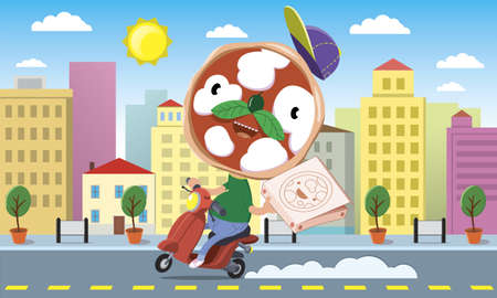 character with a face like a pizza delivery pizza in town at home