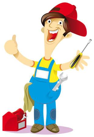 mechanical workshop to his shoulders