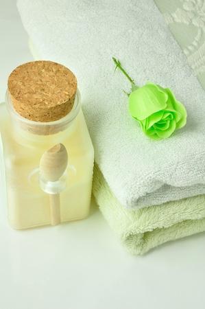 スパ用品 & グリーン ローズ石鹸