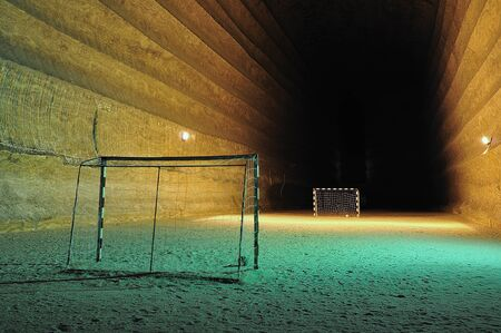 Football area underground in a salt mine (big hall). Stock Photo - 10032268