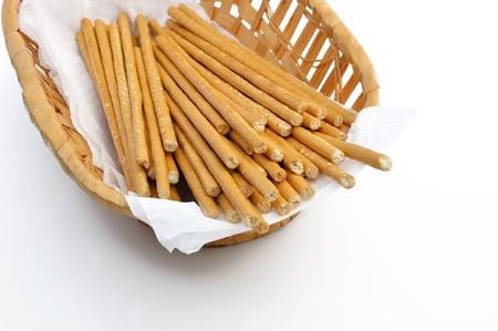 パン (ビスケット) 棒 (ストロー)、白い背景で隔離されました。ウクライナの国民食。