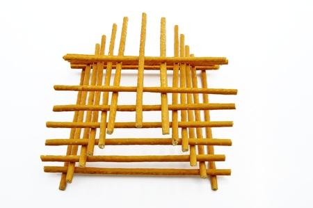 パン (ビスケット) タワーの形で (ストロー) の棒します。ウクライナの国民食。