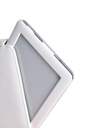 白い背景で隔離の場合、白を電子書籍。
