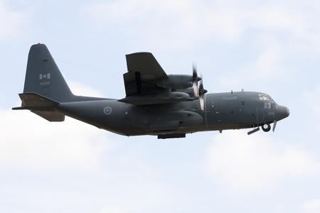 Luqa, Malta - 31 March 2008: Canadain Air Force Lockheed CC-130E Hercules (C-130EL-382) [130316] climbing out of runway 14.