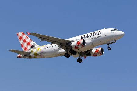 Luqa, Malta May 18, 2017: Volotea Airbus A319-111 [EI-FML] departing from runway 13. Editorial