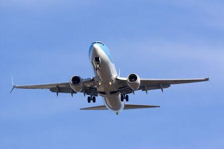Luqa, Malta May 25, 2017: Thomson Airways Boeing 737-8K5 [G-TAWU] on long finals runway 31. Editorial