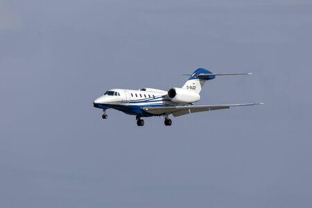 Luqa, Malta - October 25, 2019: Air X Charter Cessna 750 Citation X (REG: D-BUZZ) on short finals runway 31. Redactioneel