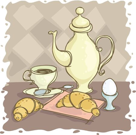 stilllife: Still-life with a coffee pot and egg