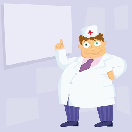 sick kind: The kind doctor in a white uniform