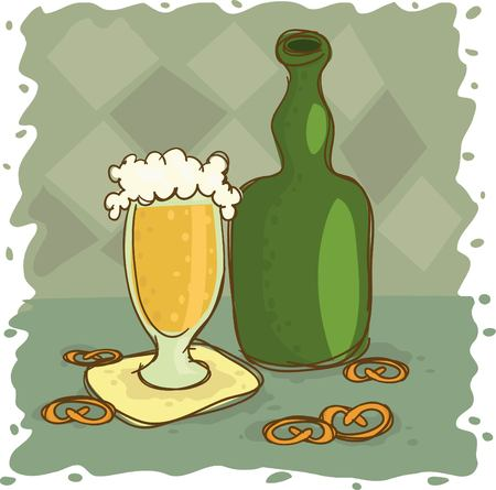 stilllife: Still-life with beer and crackers