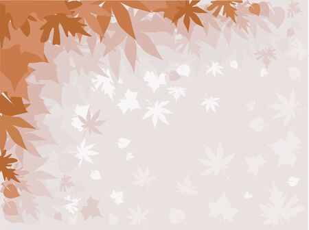 Background with autumn leaves in the fog Stock Vector - 3473283