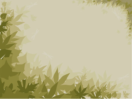 Background with autumn leaves in the fog Stock Vector - 3473285