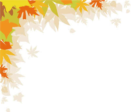 Background with autumn leaves,  design element Stock Vector - 3473286