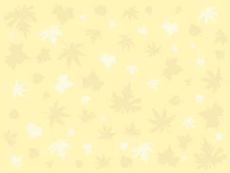 yellow wallpaper with autumn leaves Stock Vector - 3473282