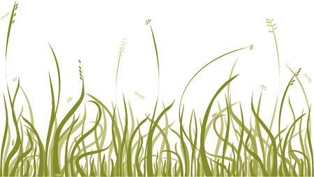 Background with autumn grass,  design element Stock Vector - 3473280