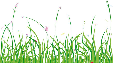 Background with grass and bugs,  design element Stock Vector - 3473279