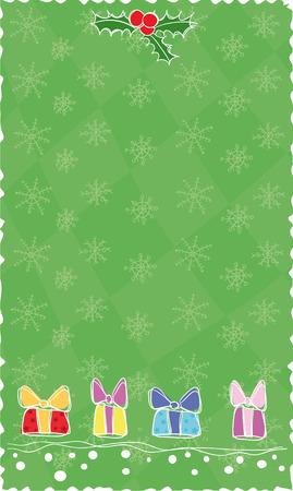 green Christmas banner, vector Stock Vector - 3736817