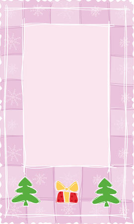 pink Christmas banner, vector Stock Vector - 3736814