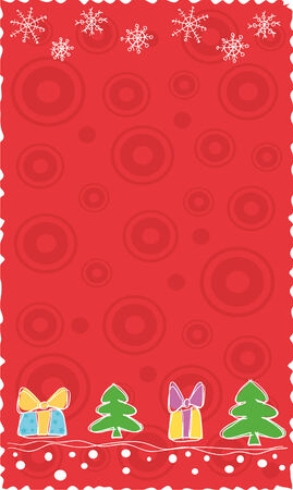 red Christmas banner, vector Stock Vector - 3736816