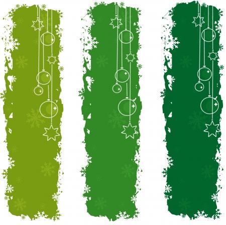 Green christmas banners Stock Vector - 3819068