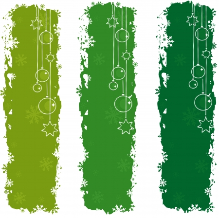 Green christmas banners Vector