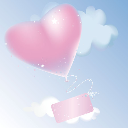 Valentine day background with  hearts and stars Vector