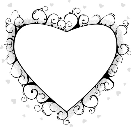 Black valentine background with heart Vector